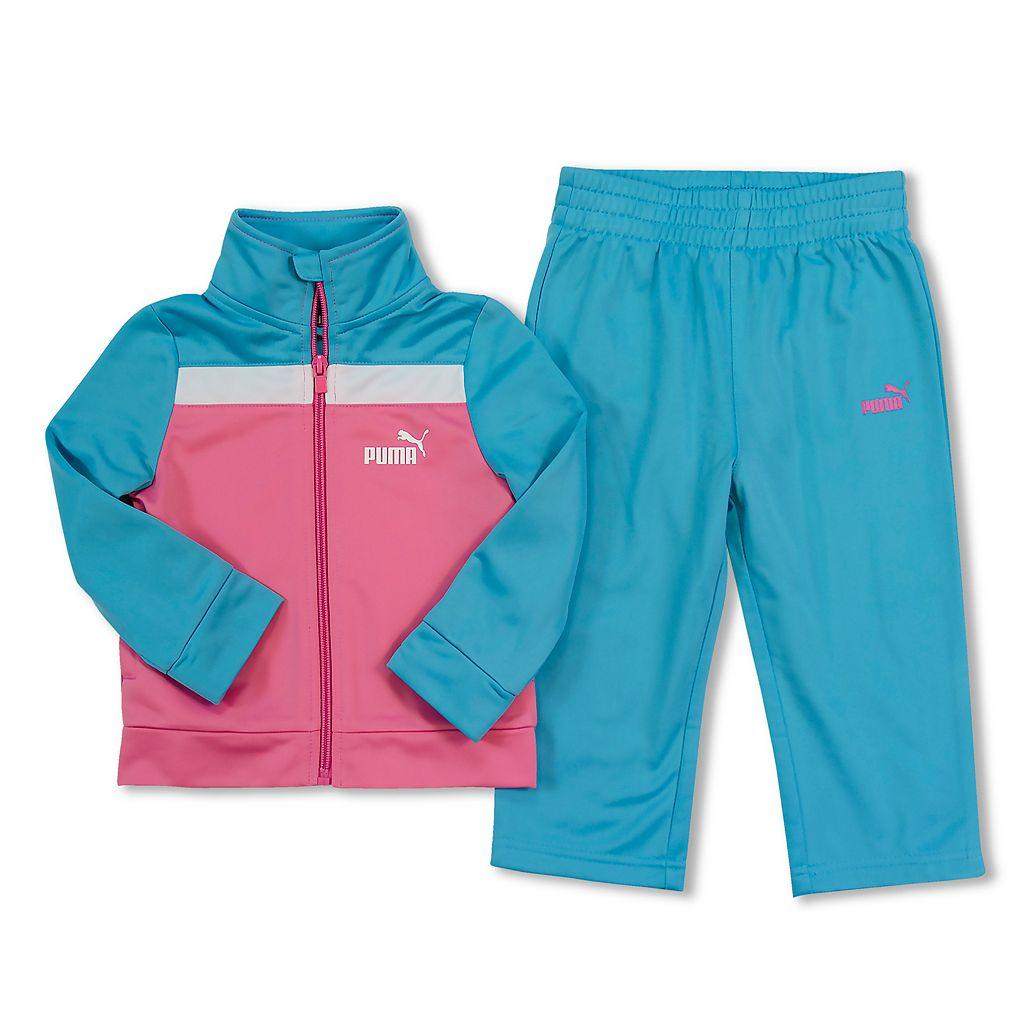 Toddler Girl PUMA Colorblock Tricot Jacket & Pants Set