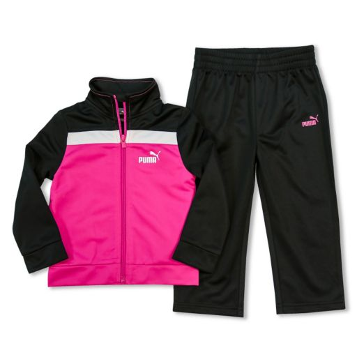 Toddler Girl PUMA Colorblock Tricot Jacket & Pants Set