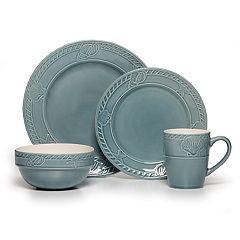 Pfaltzgraff Antigua Blue 16-pc. Dinnerware Set