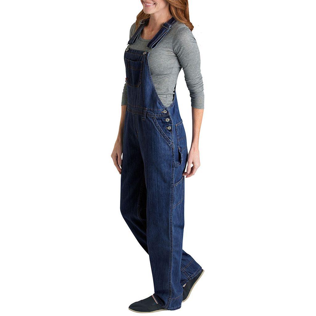 Dickies Relaxed Straight-Leg Denim Bib Overalls - Women's
