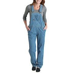 Dickies Relaxed Straight-Leg Denim Bib Overalls - Women's