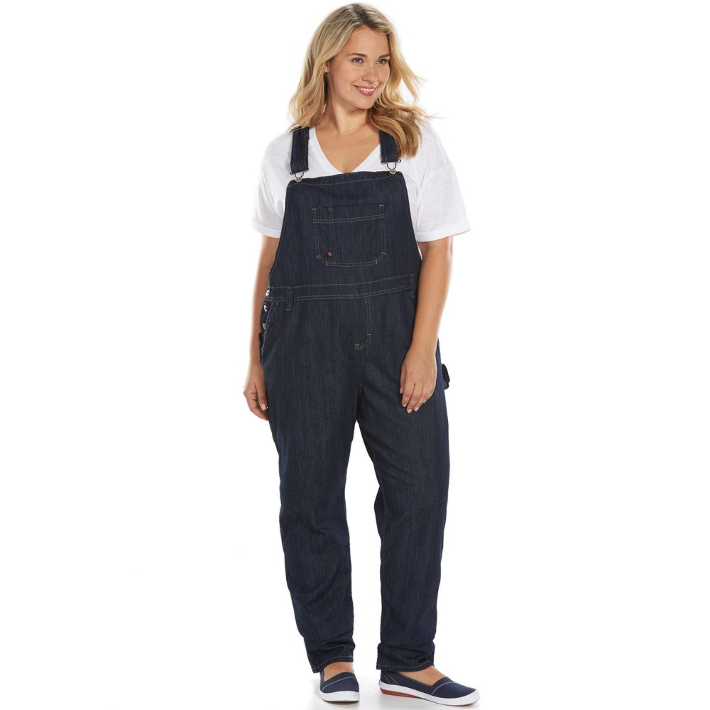 size dickies relaxed straight-leg denim bib overalls