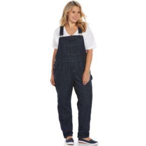 Plus Size Dickies Relaxed Straight-Leg Denim Bib Overalls