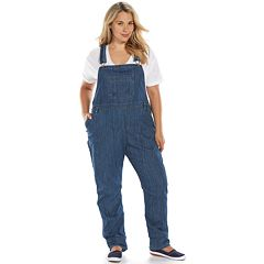 Plus Size Dickies Relaxed Straight-Leg Denim Bib Overalls