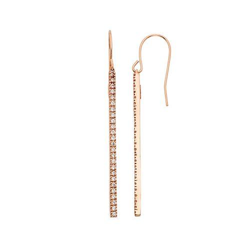 1/2 Carat T.W. Diamond 10k Gold Stick Drop Earrings