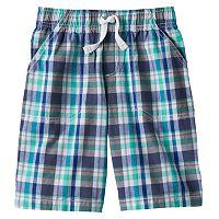Jumping Beans Boys Open Plaid Shorts