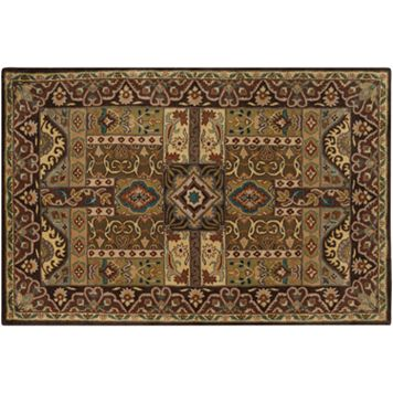 Artisan Weaver Rush Framed Wool Rug