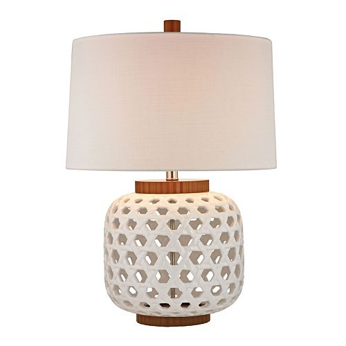 Dimond Bloome Woven LED Table Lamp