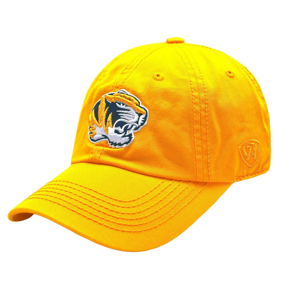 Adult Top Of The World Missouri Tigers Gold Crew Baseball Cap