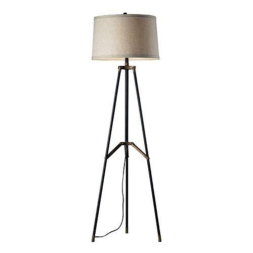 Dimond Functional Tri-Pod LED Floor Lamp