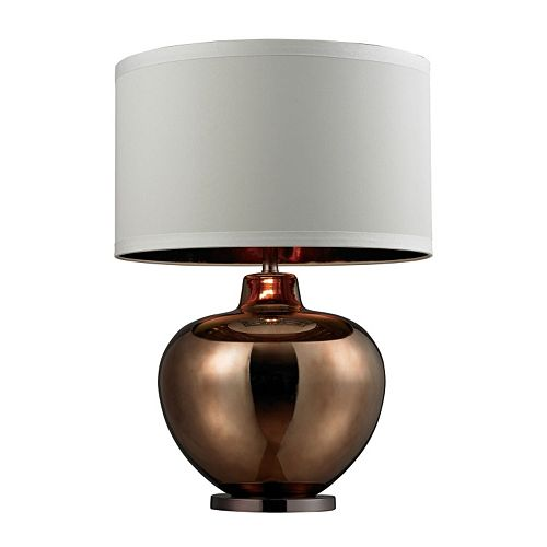 Dimond Oversized Plated Blown Glass LED Table Lamp