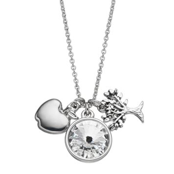 Charming Inspirations Tree & Apple Charm Necklace