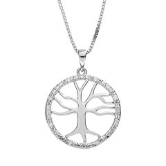 Diamond Classics Sterling Silver 1/10 Carat T.W. Diamond Tree of Life Pendant