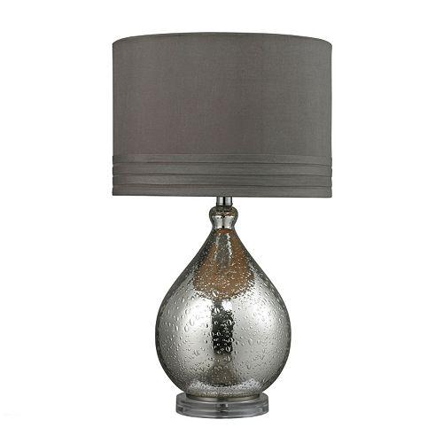 Dimond Mercury Platted Bubble Glass LED Table Lamp