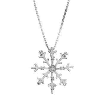 Diamond Classics Sterling Silver 1/10 Carat T.W. Diamond Snowflake Pendant