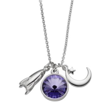 Charming Inspirations Rocket & Moon Charm Necklace