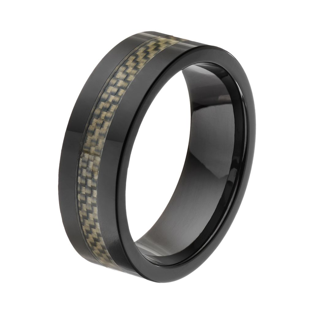 Black Ceramic & Carbon Fiber Band - Men