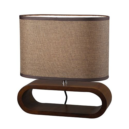 Dimond LED Wooden Oval Table Lamp