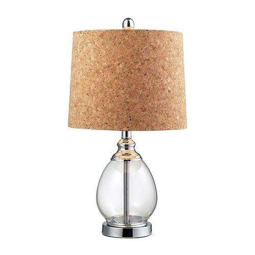 Dimond LED Cork & Glass Table Lamp