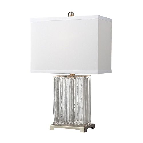 Dimond LED Ribbed Clear Glass Table Lamp