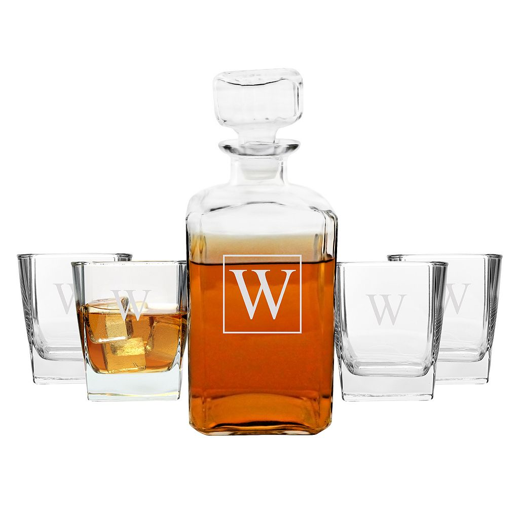 Cathy's Concepts 5-pc. Monogram Decanter Set
