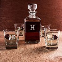 Cathy's Concepts 5 pc Monogram Decanter Set