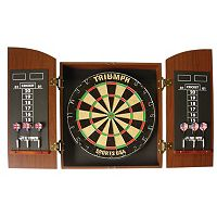 Triumph Wellington Bristle Dartboard with Arch Cabinet