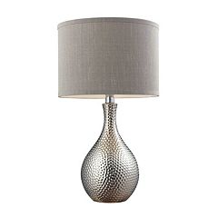 Dimond LED Hammered Chrome Table Lamp