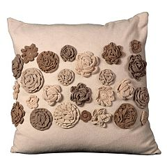Mina Victory Felt Flower Throw Pillow