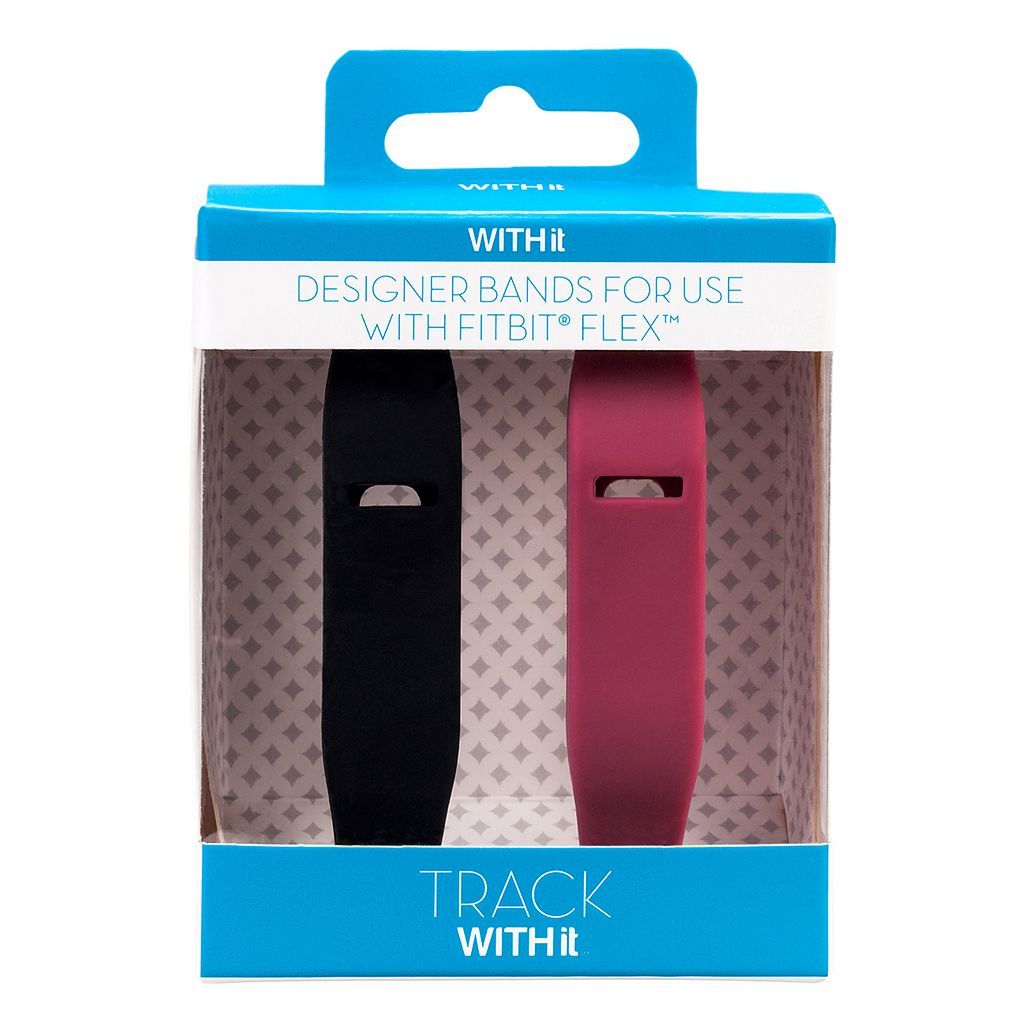 Fitbit Flex Marsala & Black Accessory Wristband Set by WITHit