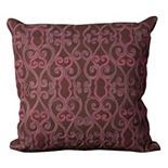 Mina Victory 20'' x 20'' Scroll Felt Throw Pillow