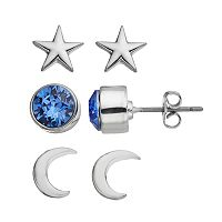 Charming Inspirations Moon & Star Stud Earring Set