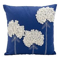 Mina Victory 18'' x 18'' Flower Throw Pillow
