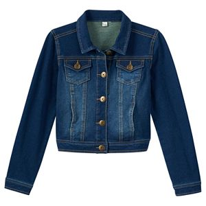 Girls 7-16 & Plus Size Mudd® Knit Denim Jacket