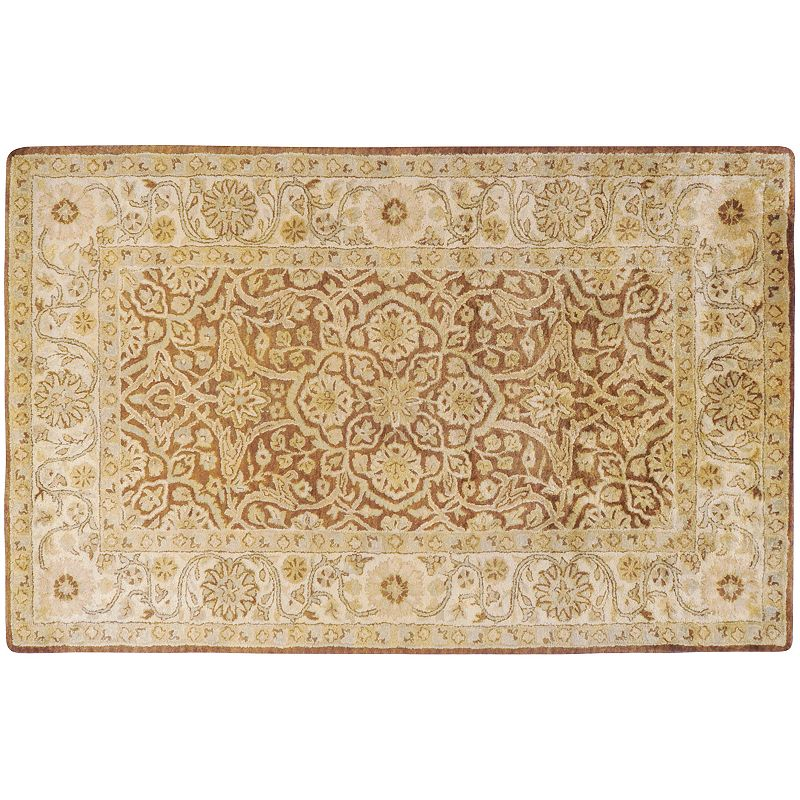 Artisan Weaver Tishomingo Floral Framed Wool Rug, Brown, 3X5 Ft Product Image