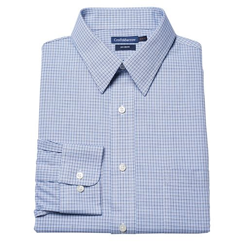 Croft & Barrow® Slim-Fit Micro-Checked No-Iron Dress Shirt – Men