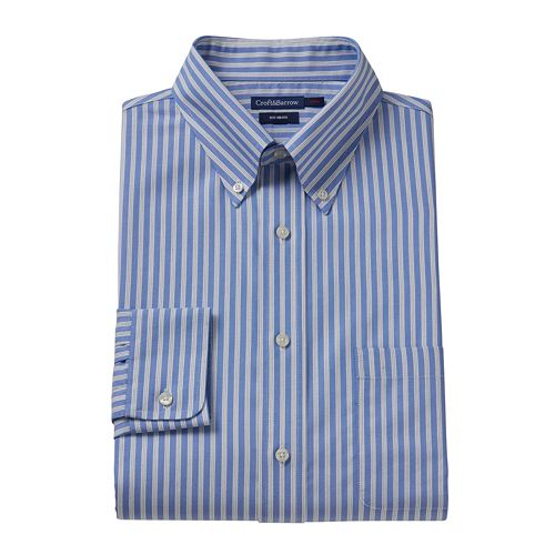 Croft & Barrow® Fitted Striped No-Iron Dress Shirt – Men
