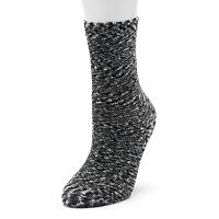 Cuddl Duds Space-Dye Plush Crew Socks - Women