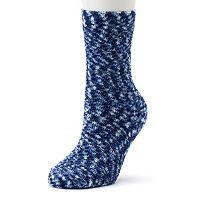 Cuddl Duds Space-Dye Plush Crew Socks - Women