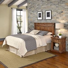 Home Styles Americana Vintage 2-piece Headboard & Night Stand Set