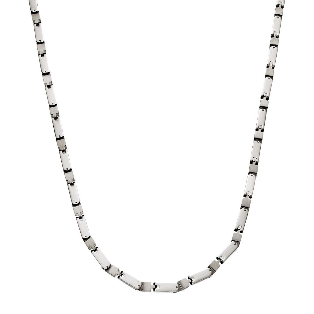 Stainless Steel Box Chain Necklace - Men