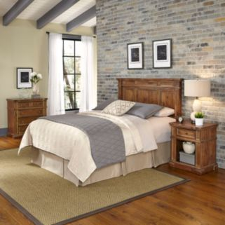 Home Styles Americana Vintage 3-piece Headboard, Night Stand, & Chest Set