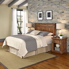 Home Styles Americana Vintage 3-piece Headboard & Night Stand Set