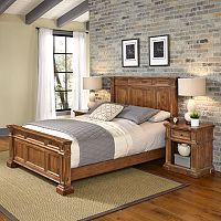 Home Styles Americana Vintage 3-piece Bed & Night Stand Set