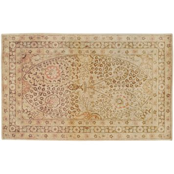 Artisan Weaver University Floral Framed Wool Rug