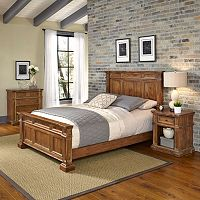Home Styles Americana Vintage 3-piece Bed, Night Stand & Chest Set