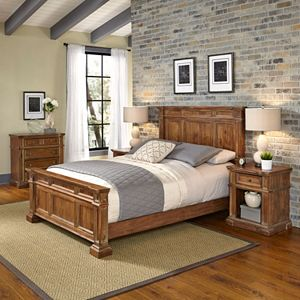 Home Styles Americana Vintage 4-piece Bed, Night Stand & Chest Set