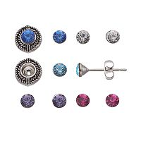 Charming Inspirations Interchangeable Halo Stud Earring Set