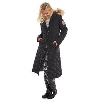 Juniors Madden Girl Quilted Puffer Maxi Jacket