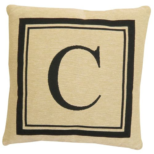 Vintage House by Park B. Smith Initial Monogram Throw Pillow